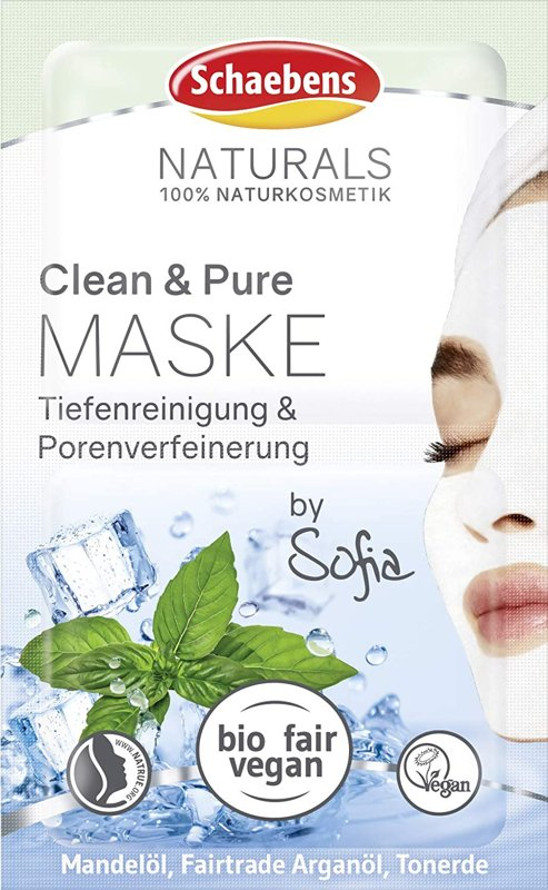 Produktfoto: Schaebens Naturals Clean & Pure Maske by Sofia, 2x5ml